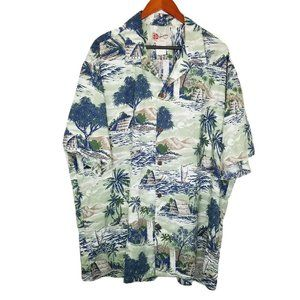 Hilo Hattie Hawaiian Shirt Mens 3XL Short Sleeve